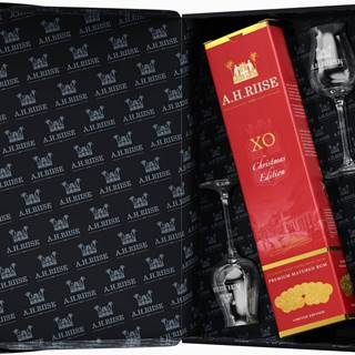 A.H. Riise XO Reserve Christmas + 2 poháre 40% 0,7l