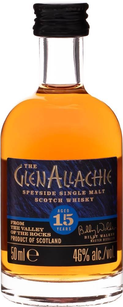 The GlenAllachie GlenAllachie 15 ročná Mini 46% 0,05l