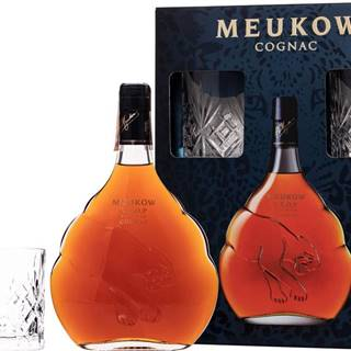 Meukow VSOP Superior + 2 poháre