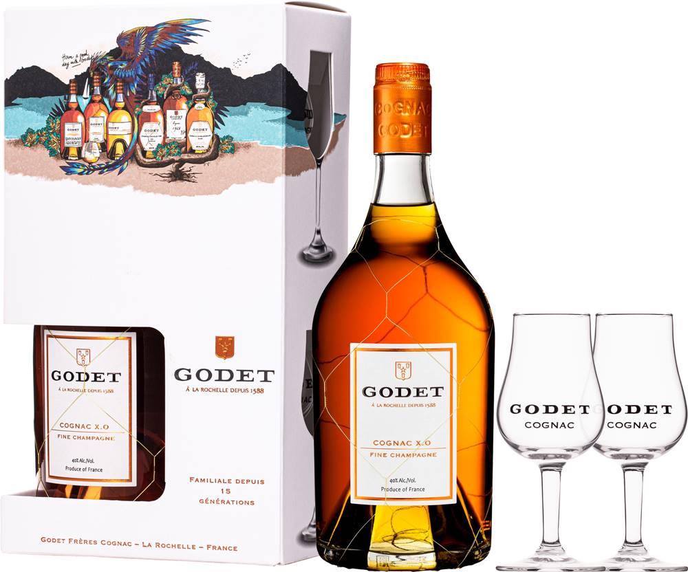 Godet Godet XO Fine Champagne + 2 poháre