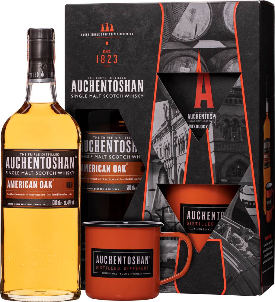 Auchentoshan Auchentoshan American Oak + plecháčik 40% 0,7l