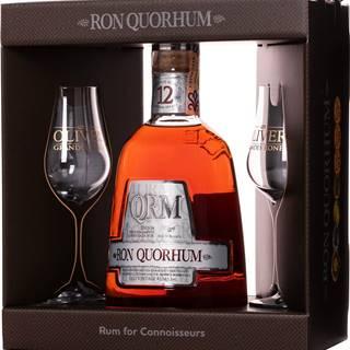 Ron Quorhum 12 ročný + 2 poháre 40% 0,7l