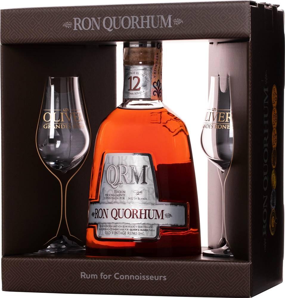 Ron Quorhum Ron Quorhum 12 ročný + 2 poháre 40% 0,7l