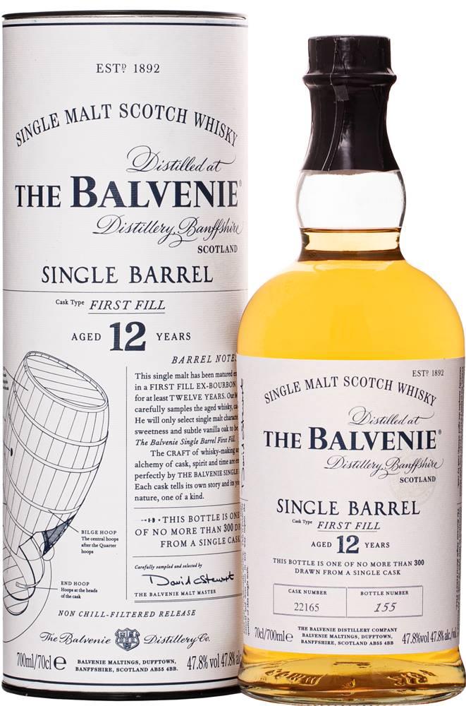 The Balvenie The Balvenie 12 ročná Single Barrel 47,8% 0,7l