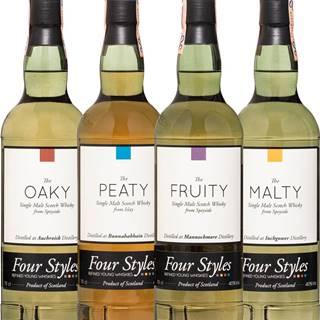 Set Four Styles Whisky