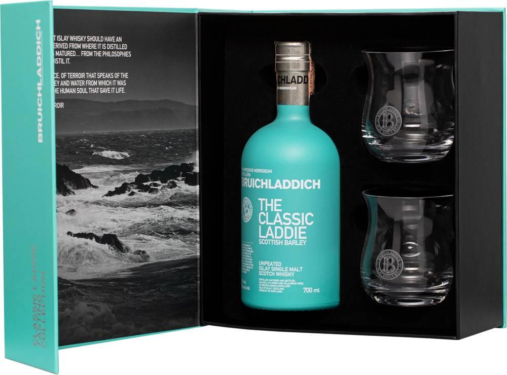 Bruichladdich Bruichladdich The Classic Laddie + 2 poháre 50% 0,7l
