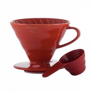Hario Keramický prekvapkávač na kávu - červený
