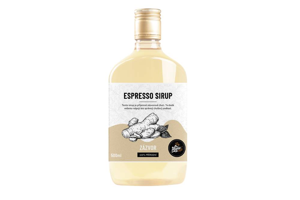 Manu cafe ESPRESSO SIRUP ZÁZVOR - 500 ml