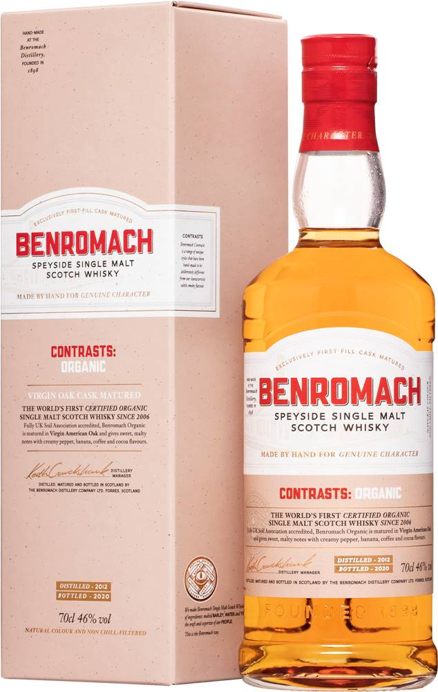 Benromach Benromach Organic 2012 46% 0,7l