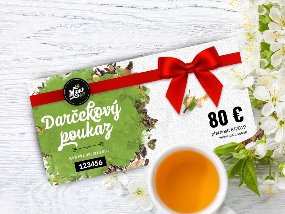 Manu tea Darčekový poukaz na 80 €