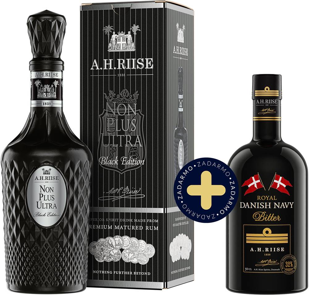 A.H. Riise Set A.H. Riise Non Plus Ultra Black Edition + Westindian Bitter zadarmo 42% 1,2l