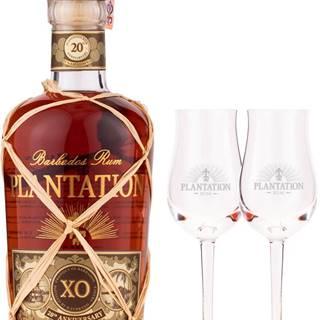 Plantation XO 20th Anniversary s 2 pohármi 40% 0,7l