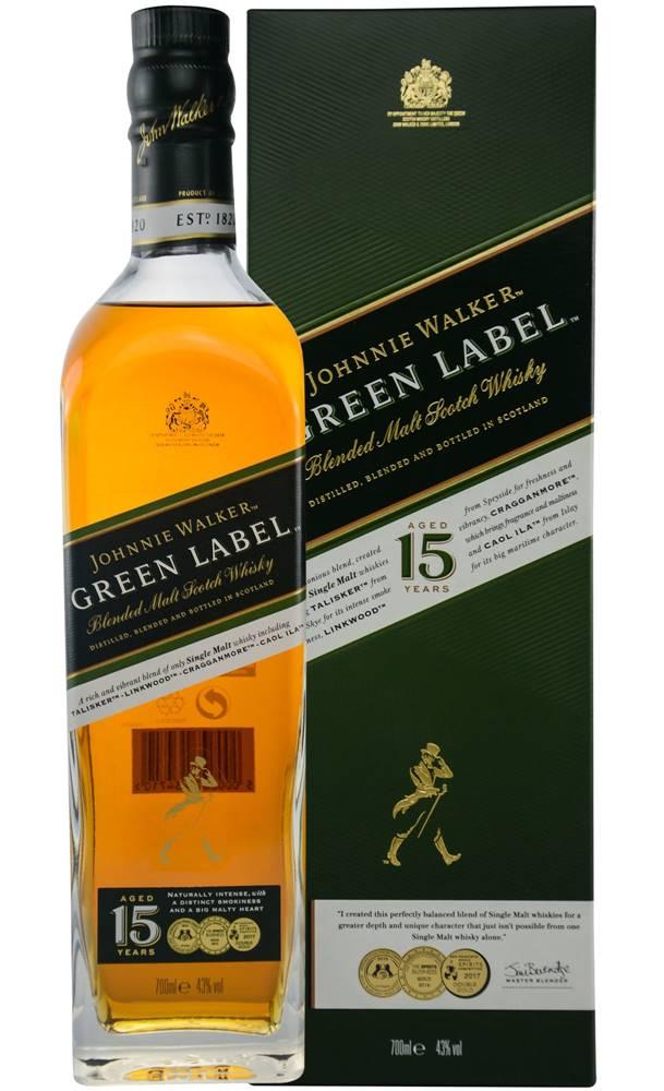 Johnnie Walker Johnnie Walker Green Label 15 ročná 43% 0,7l
