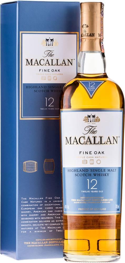 Macallan Macallan 12 ročná Triple Cask Matured 40% 0,7l