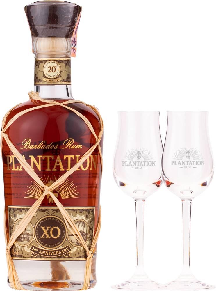Plantation Plantation XO 20th Anniversary s 2 pohármi 40% 0,7l