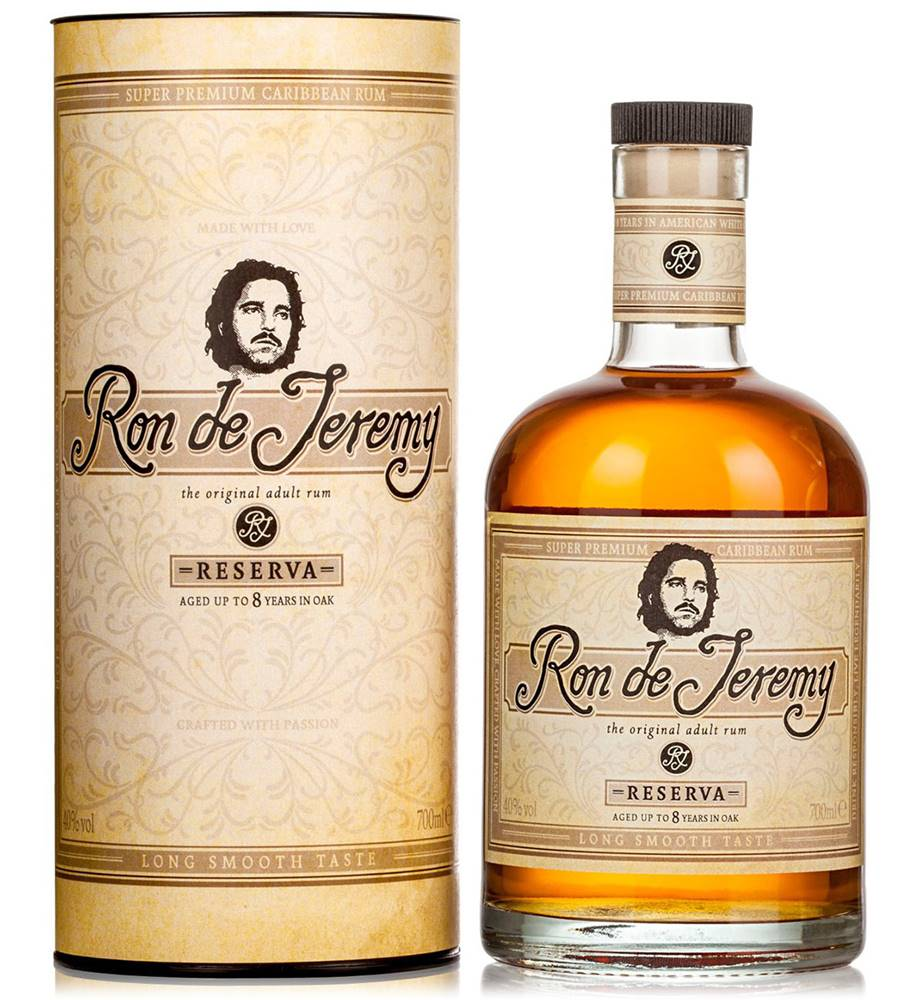 Ron de Jeremy Ron de Jeremy Reserva 8 ročný rum v tube 40% 0,7l
