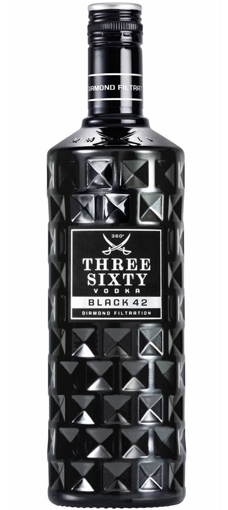 Three Sixty Three Sixty Black 42 Vodka 42% 1l