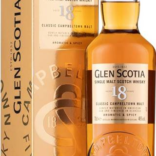 Glen Scotia 18 ročná 46% 0,7l