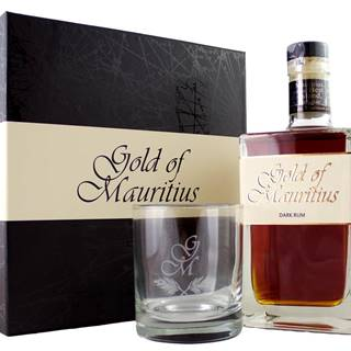 Gold of Mauritius Dark s pohárom 40% 0,7l