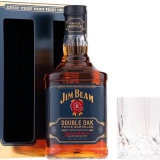 Jim Beam Double Oak Twice Barreled  + 2 poháre 43% 0,7l
