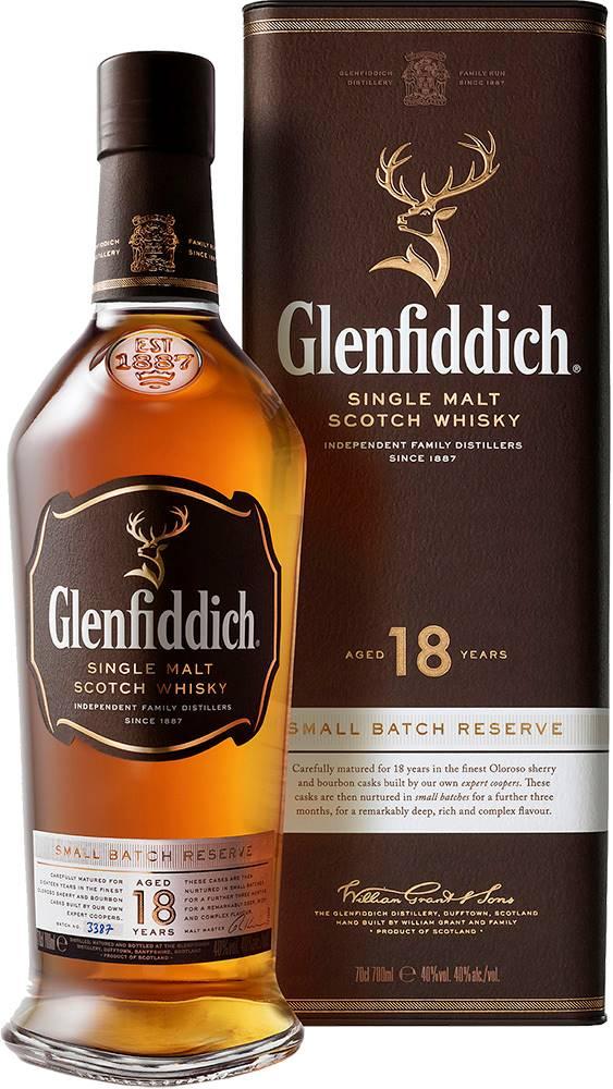 Glenfiddich Glenfiddich 18 ročná 40% 0,7l