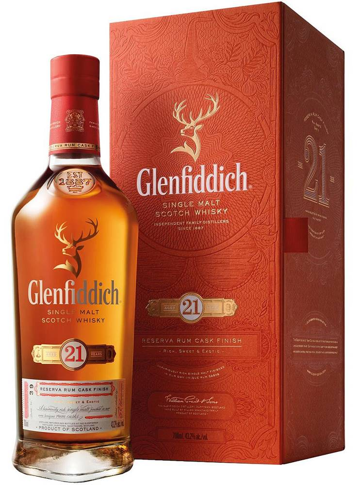 Glenfiddich Glenfiddich 21 Ročná Gran Reserva 40% 0,7l