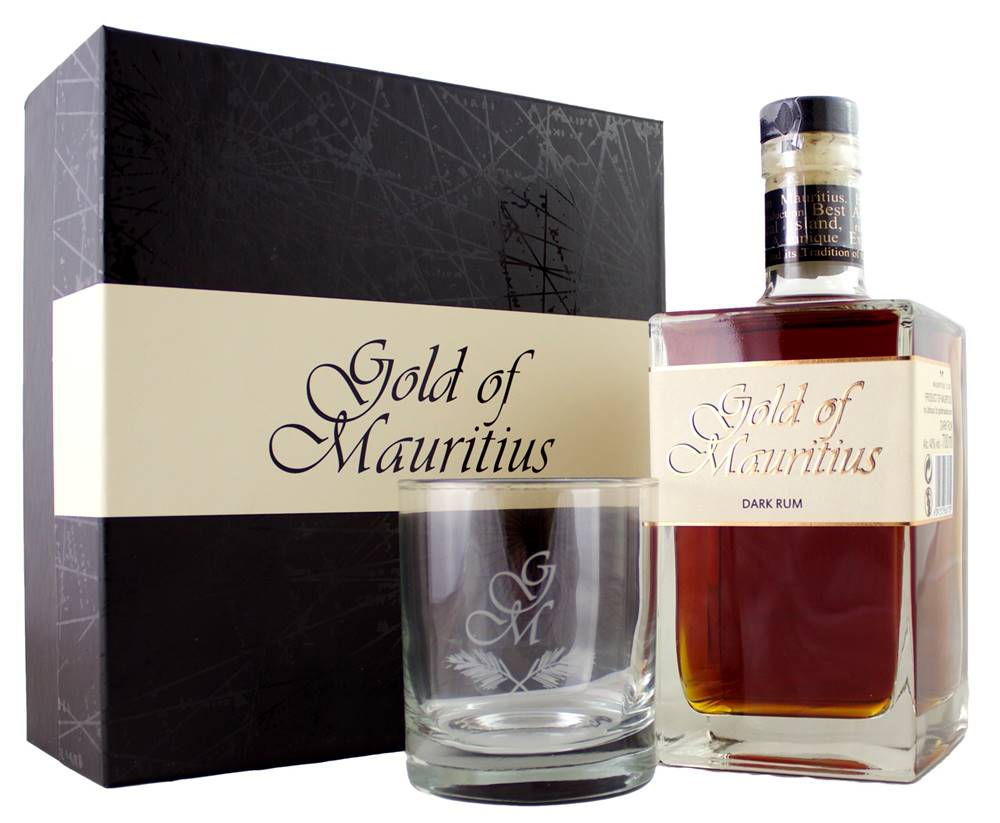 Gold of Mauritius Gold of Mauritius Dark s pohárom 40% 0,7l