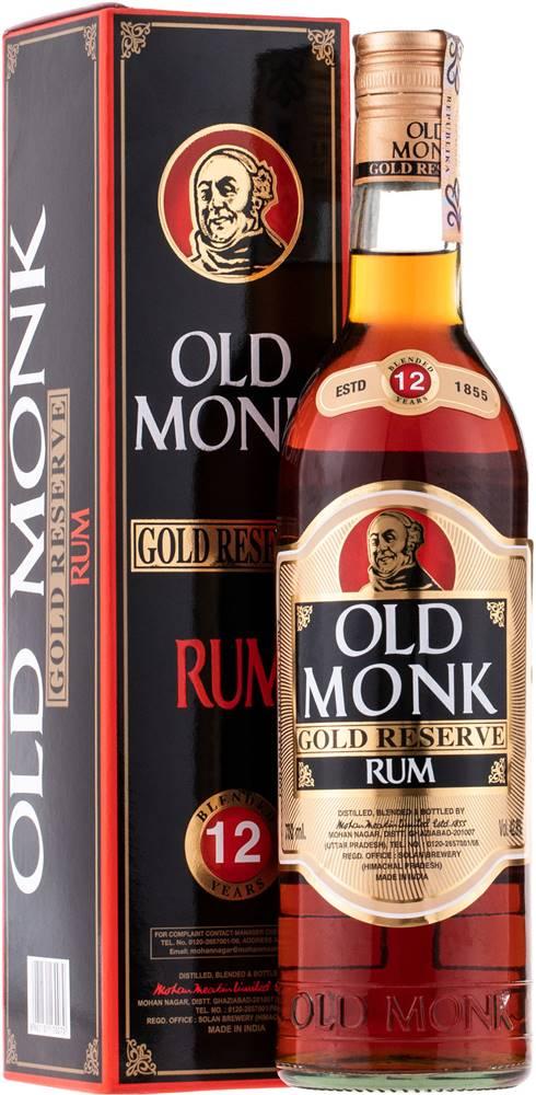 Old Monk Old Monk Gold Reserve 12 ročný rum 42,8% 0,7l