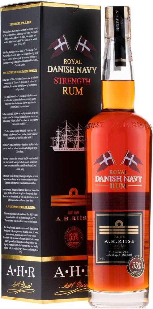 A.H.Riise A.H. Riise Royal Danish Navy Strength 55% 0,7l