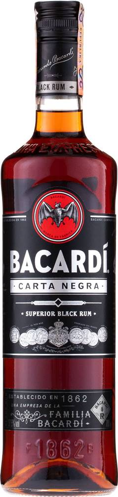 Bacardi Bacardi Carta Negra 37,5% 0,7l