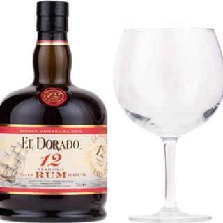 El Dorado 12 ročný + 1 pohár 40% 0,7l