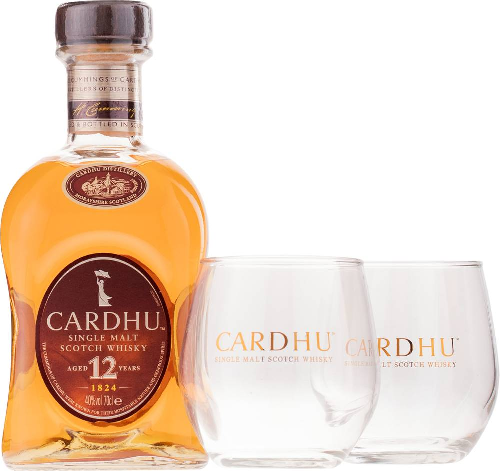 Cardhu Cardhu 12 ročná  + 2 poháre 40% 0,7l