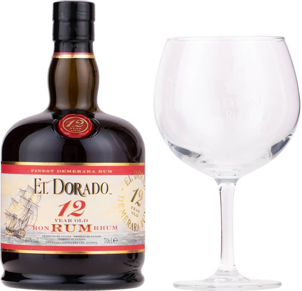 El Dorado El Dorado 12 ročný + 1 pohár 40% 0,7l