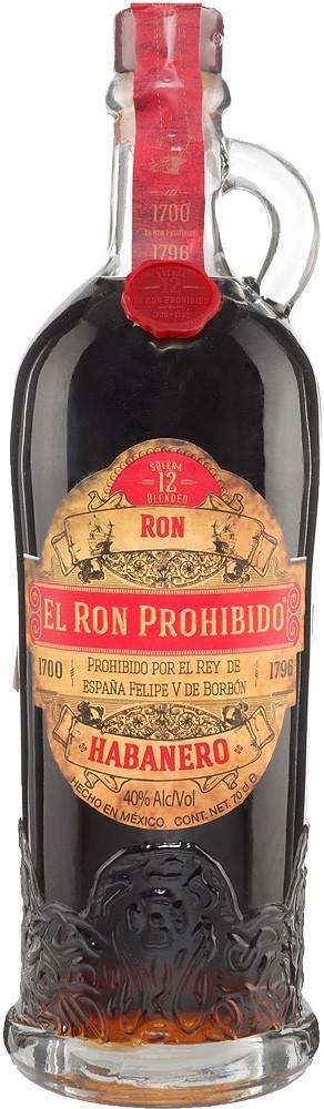 El Ron Prohibido El Ron Prohibido Habanero 12 ročný 40% 0,7l