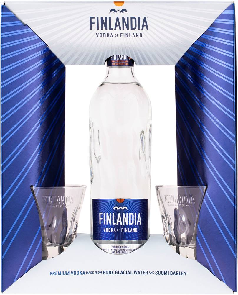 Finlandia Finlandia + 2 poháre 40% 0,7l