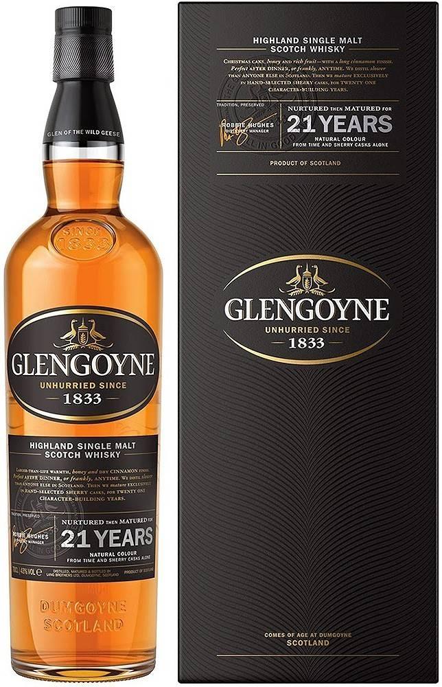 Glengoyne Glengoyne 21 ročná 43% 0,7l
