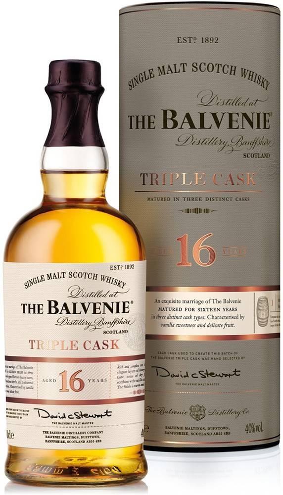 Balvenie The Balvenie Triple Cask 16 ročná 40% 0,7l