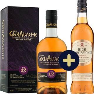 The GlenAllachie 12 ročná + High Commissioner zadarmo 43% 1,4l