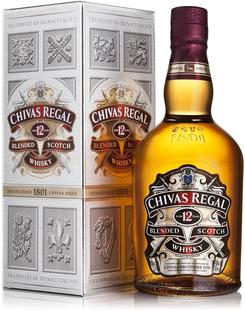 Chivas Chivas Regal 12 ročná 1l v kartóniku 40%