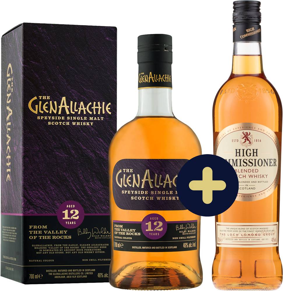 The GlenAllachie The GlenAllachie 12 ročná + High Commissioner zadarmo 43% 1,4l
