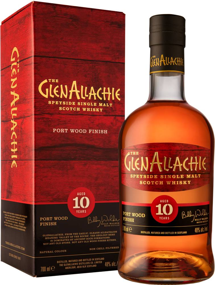 The GlenAllachie The GlenAllachie 10 ročná Port Wood Finish 48% 0,7l