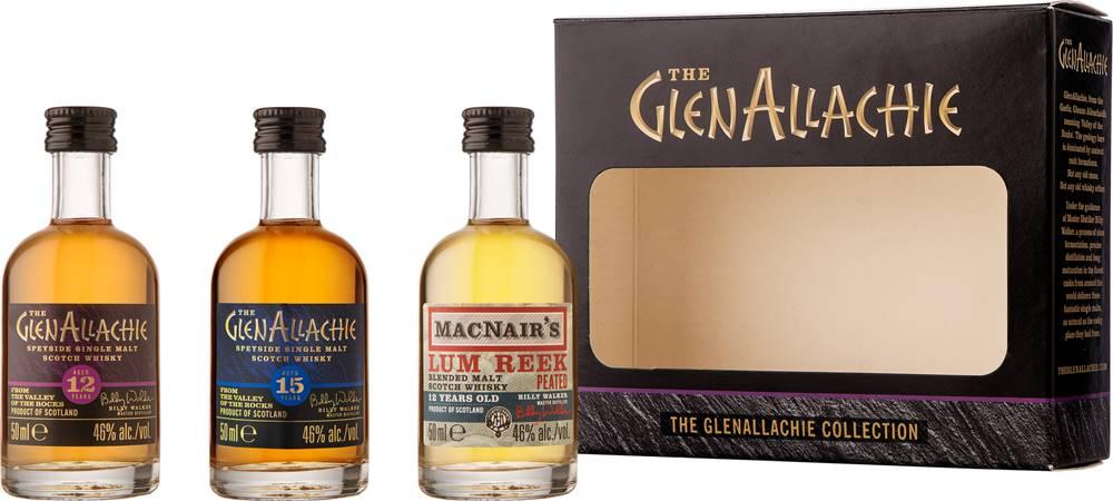 The GlenAllachie The GlenAllachie Mini set 3 x 0,05l 46% 0,15l