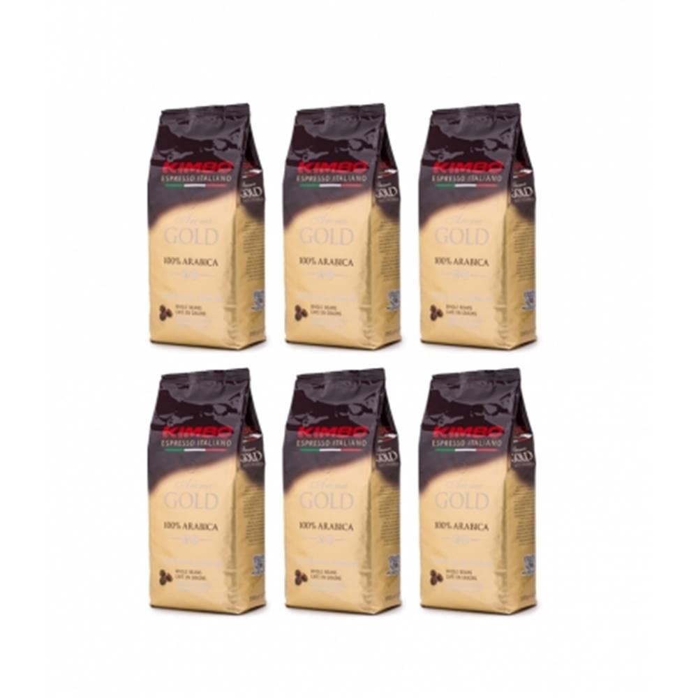 Kimbo Kimbo Aroma Gold zrnková káva 6 x 1 kg