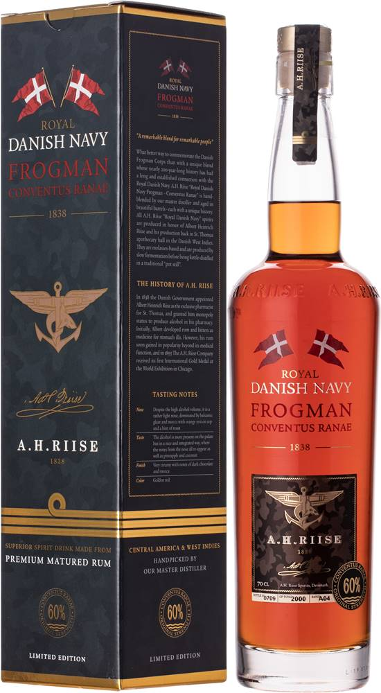 A.H.Riise A.H. Riise Royal Danish Navy Frogman Conventus Ranae 60% 0,7l