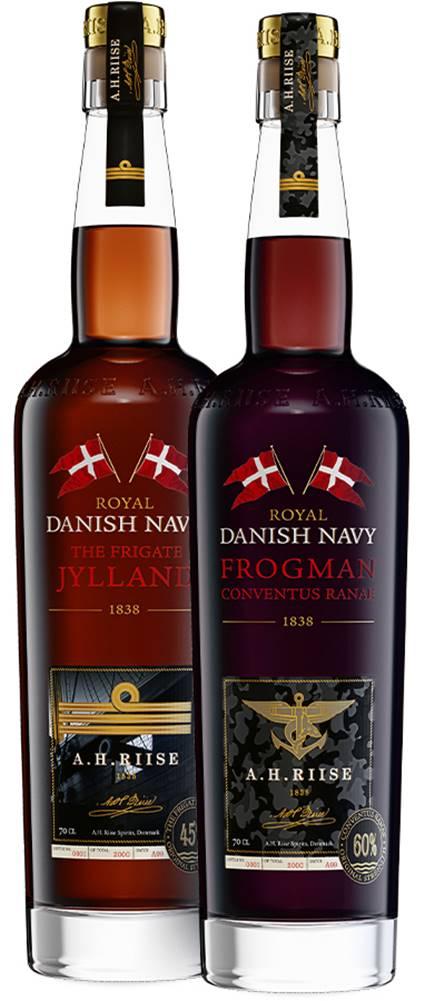 A.H.Riise Set A.H. Riise Royal Danish Navy Fregatten Jylland + Frogman Conventus Ranae